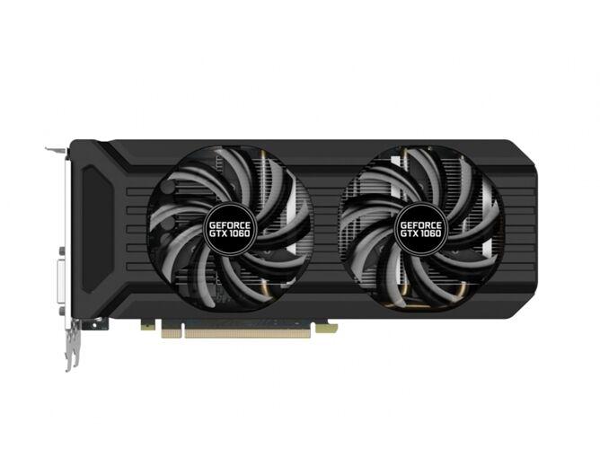 Tarjeta Gráfica PALIT GeForce GTX 1060 Dual (NVIDIA - 6 GB DDR5)