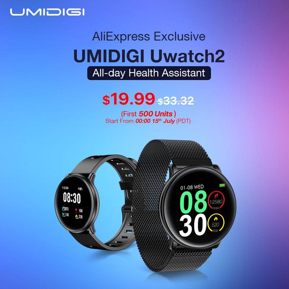 UMIDIGI Uwatch 2 $19.9