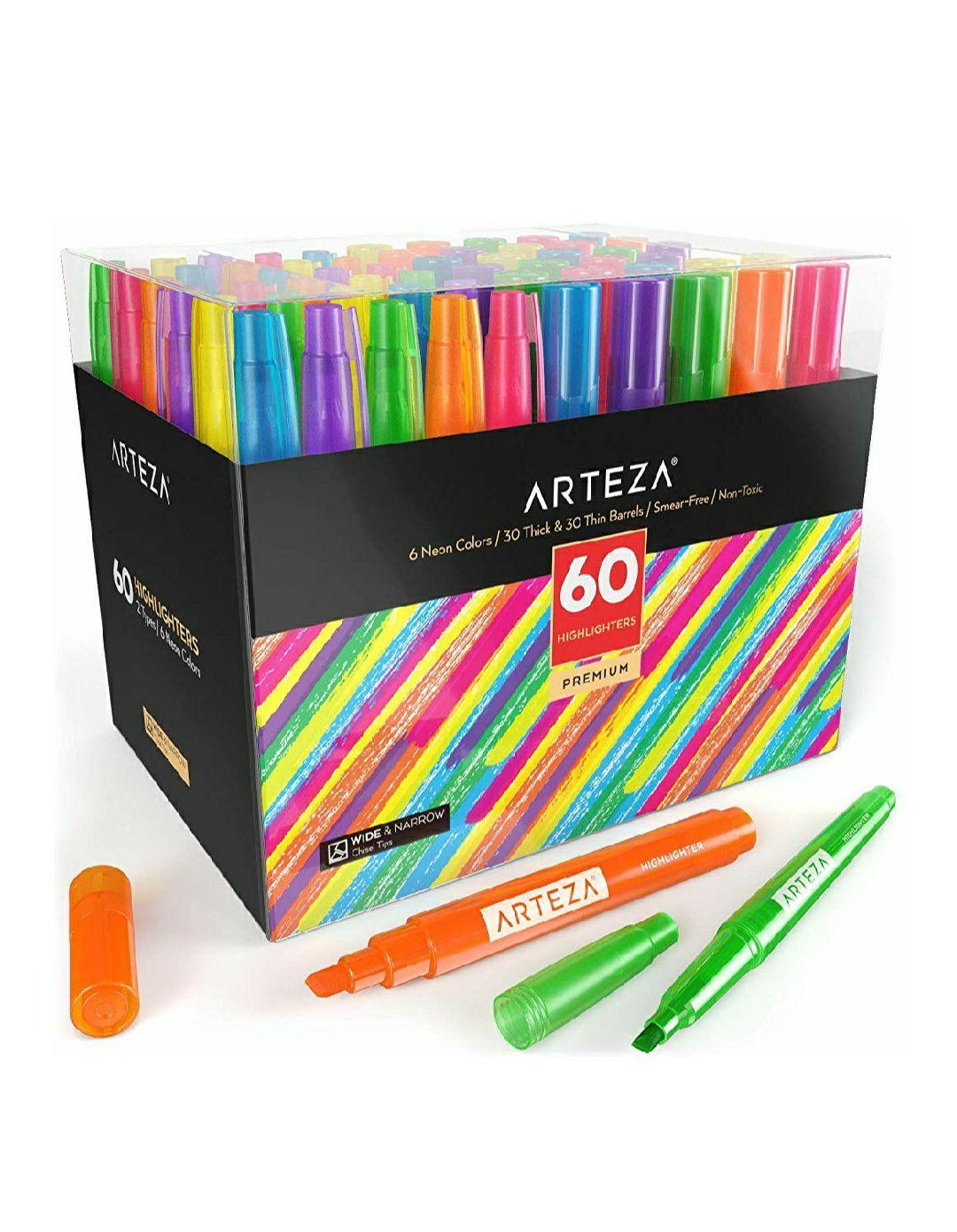 Caja 60 Subrayadores Arteza (0'23€ c/u)