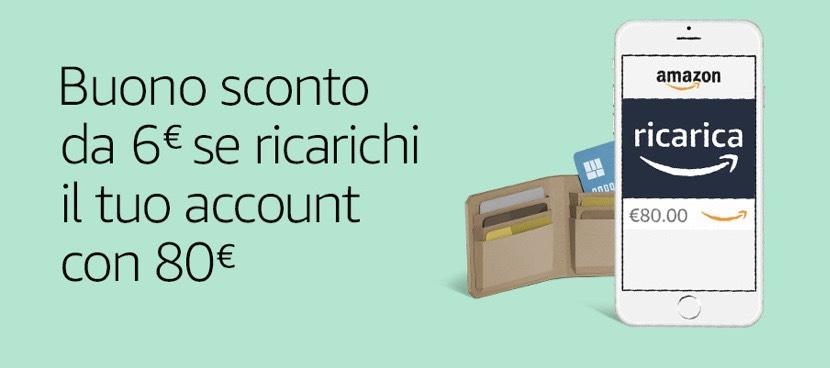 6€ gratis por recarga de 60€ en Amazon Francia y por recarga de 80€ en Italia