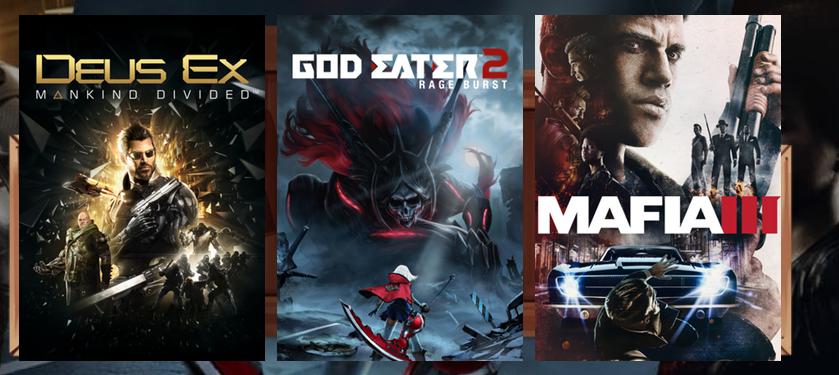 Deus Ex: Mankind Divided + GOD EATER 2 Rage Burst + Mafia III + Mafia III: Sign of the Times  por 10,60€