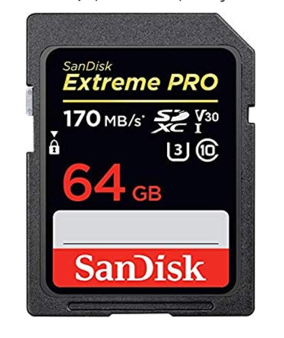 Tarjeta memoria Sandisk DD 64gb Extreme Pro (usando prueba 30 dias amazon prime)