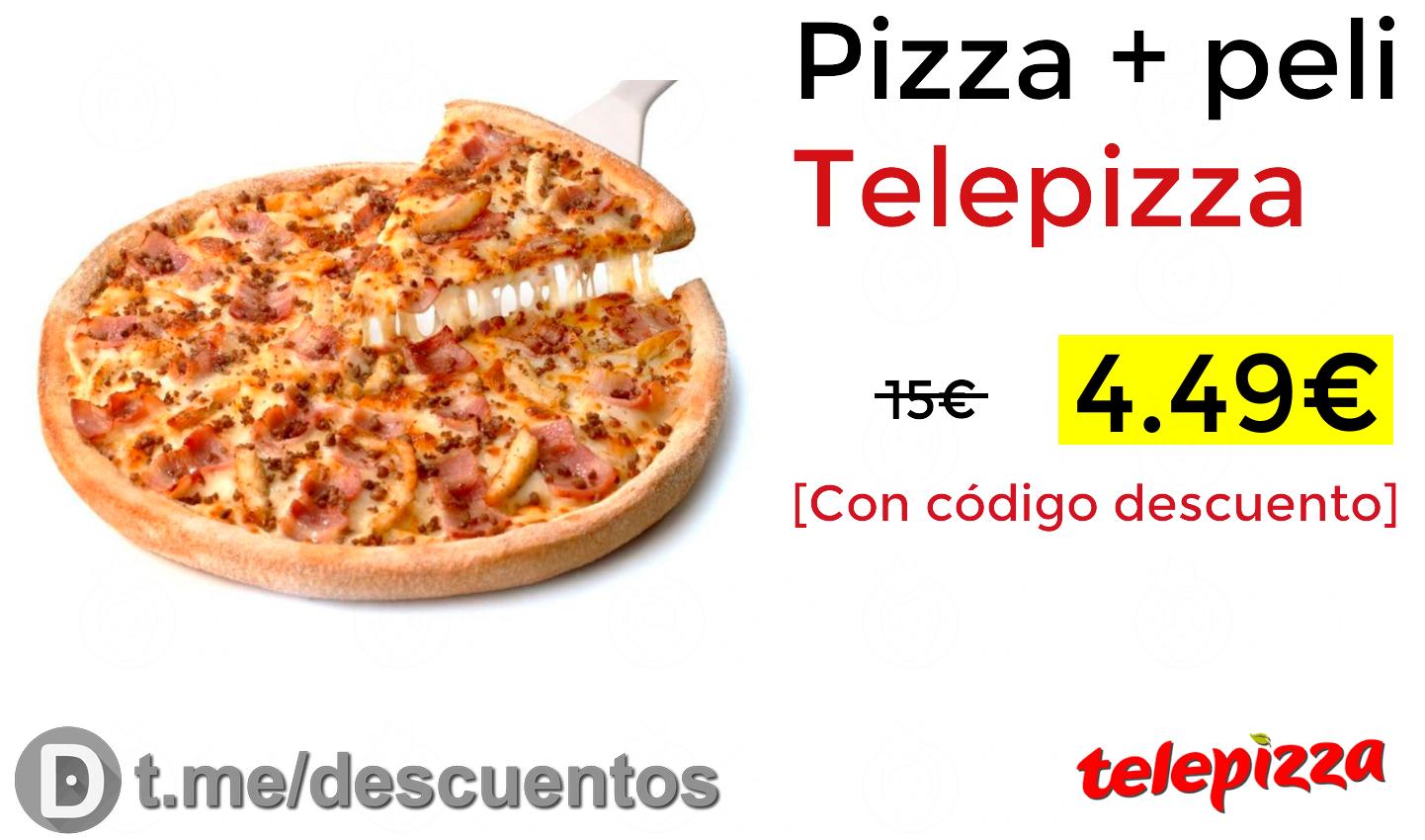 Telepizza mediana + pelis por 4€