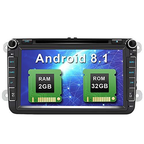 Android 8.1 Autoradio 8 Pulgadas 2 DIN Coche Estéreo con GPS Navegación