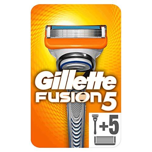Gillette Fusion - Maquinilla de afeitar + 5 recambios