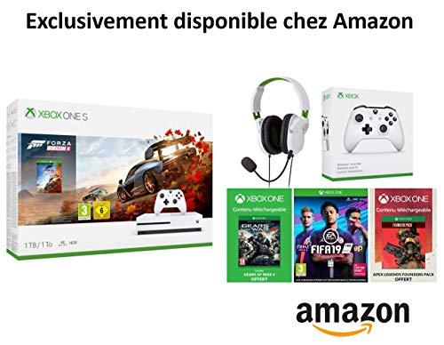 Pack Xbox one s Amazon Francia (Xbox 1TB+2mandos+auriculares+3juegos).