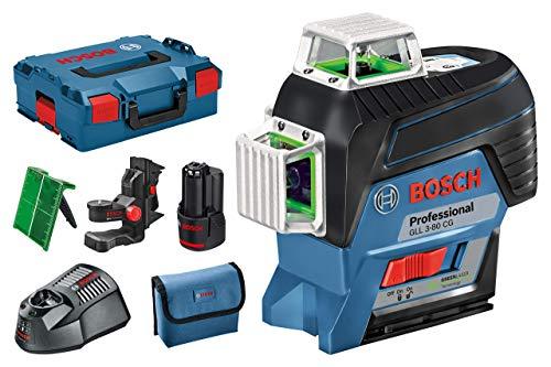 Bosch Professional GLL 3-80 CG - Nivel láser verde en L-BOXX