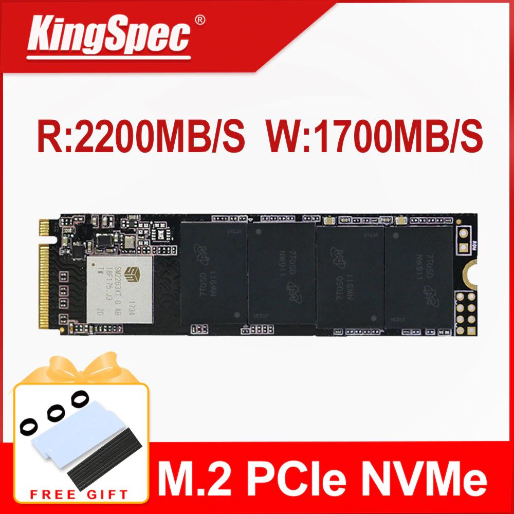 KingSpec M2 NVME SSD 512GB 2200MB/s  /  1700NB/s   3DNAND TLC
