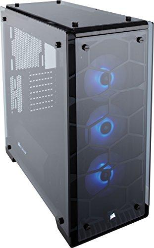 Corsair Crystal 570X RGB - Caja de PC, Mid-Tower ATX, Ventana Lateral Cristal Templado con Ventilador, iluminación RGB, Negro