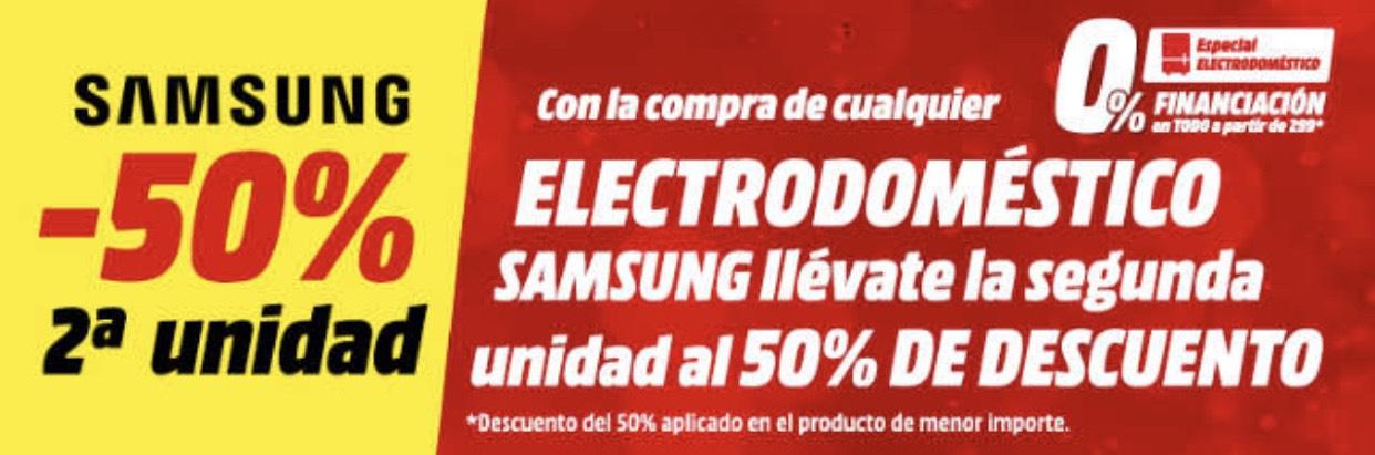 -50% 2º electrodoméstico SAMSUNG