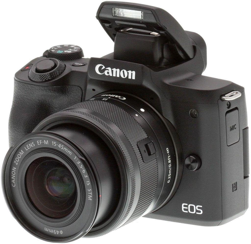 Canon EOS M50 - Negro+Objetivo EF-M 15-45mm+Tarjeta de SD Kingston 16GB 80MB/s