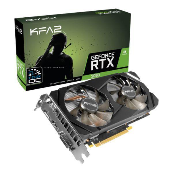 KFA2 GeForce® RTX 2060 (1 Click OC) 6GB GDDR6 - Tarjeta Gráfica