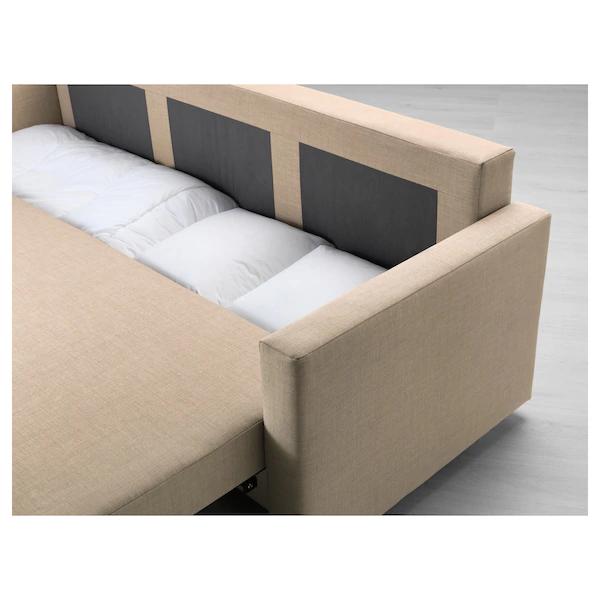 FRIHETEN Sofá cama 3 plazas, Skiftebo beige