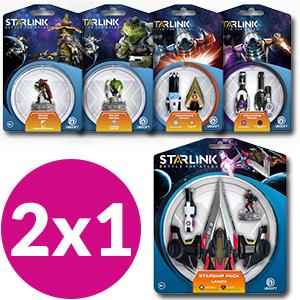 2x1 figuras Starlink + descuento.