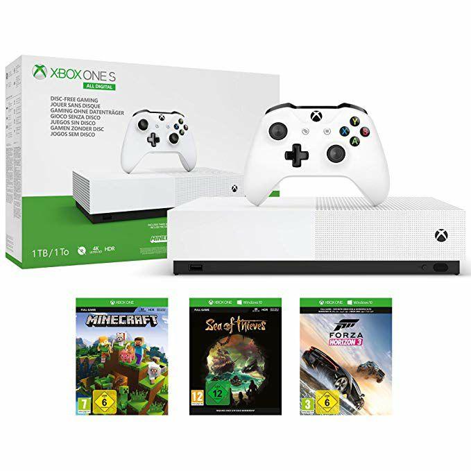 Xbox One S de 1 TB + 1 mes de Xbox Live Gold + Forza Horizon 3 + Minecraft + Sea of Thieves