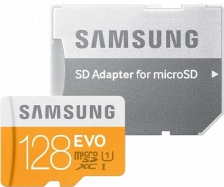 Samsung EVO 128GB MicroSDXC con adaptador