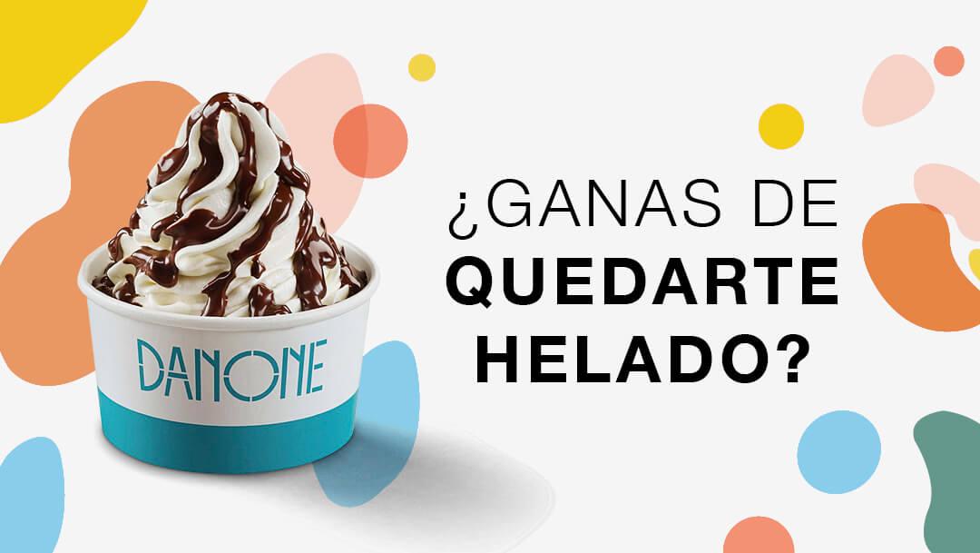 HELADO GRATIS con un topping de la Yogurtería Danone.