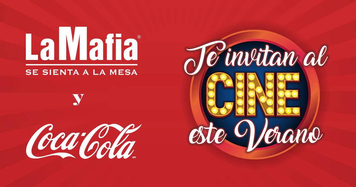 2 entradas de Cine Gratis en Restaurantes La Mafia por ticket superior a 45€