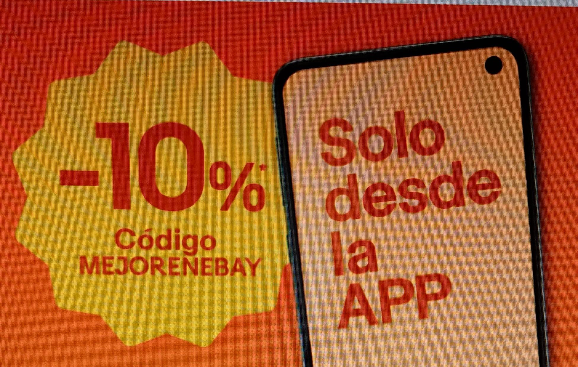 10% Descuento el todo Ebay (máximo 50€ descuento)