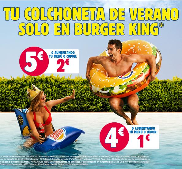 Colchoneta o flotador en Burger King