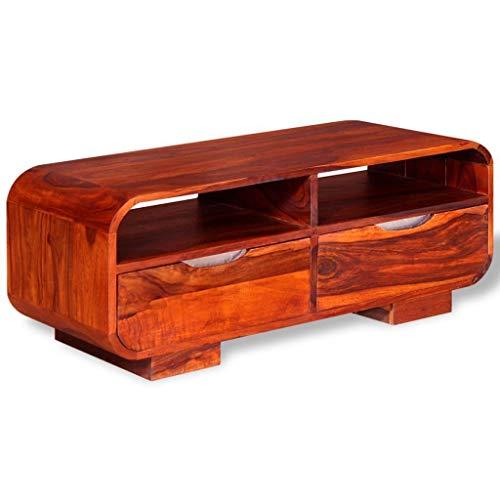Mesa baja madera maciza con cajones