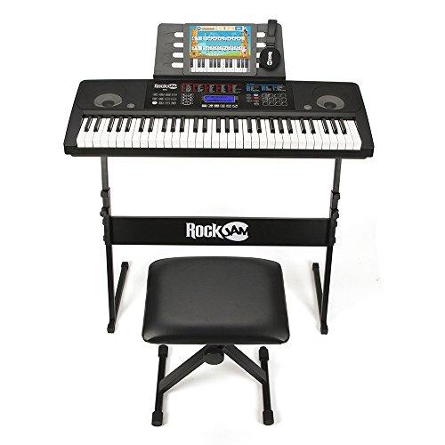 Super Kit Teclado electrónico con soporte, auriculares, pedal y taburete