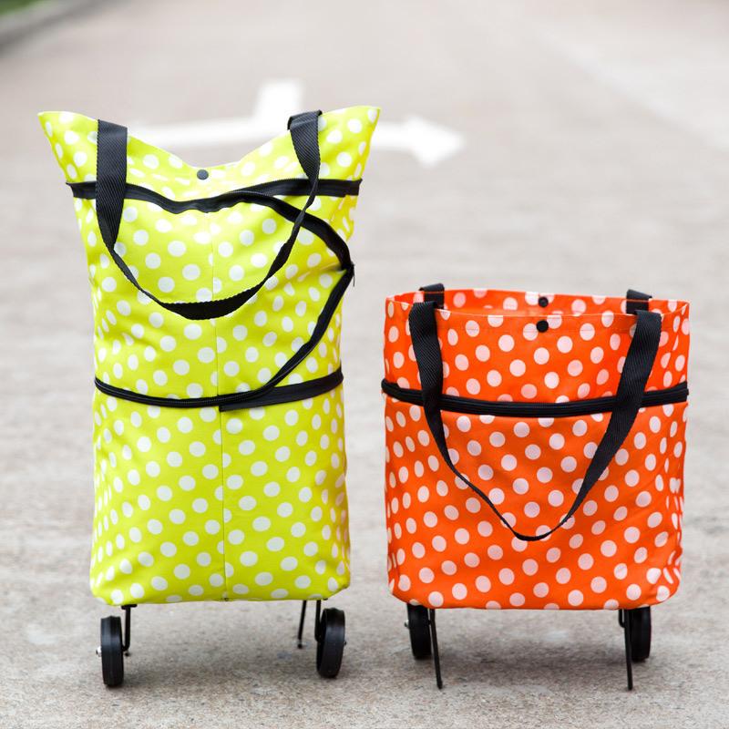 ¡Bolsa de la compra portátil con ruedas plegables sólo 4,41€! Envío gratis España