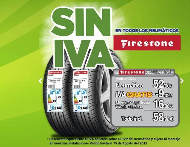 Neumáticos Firestone SIN IVA Aurgi