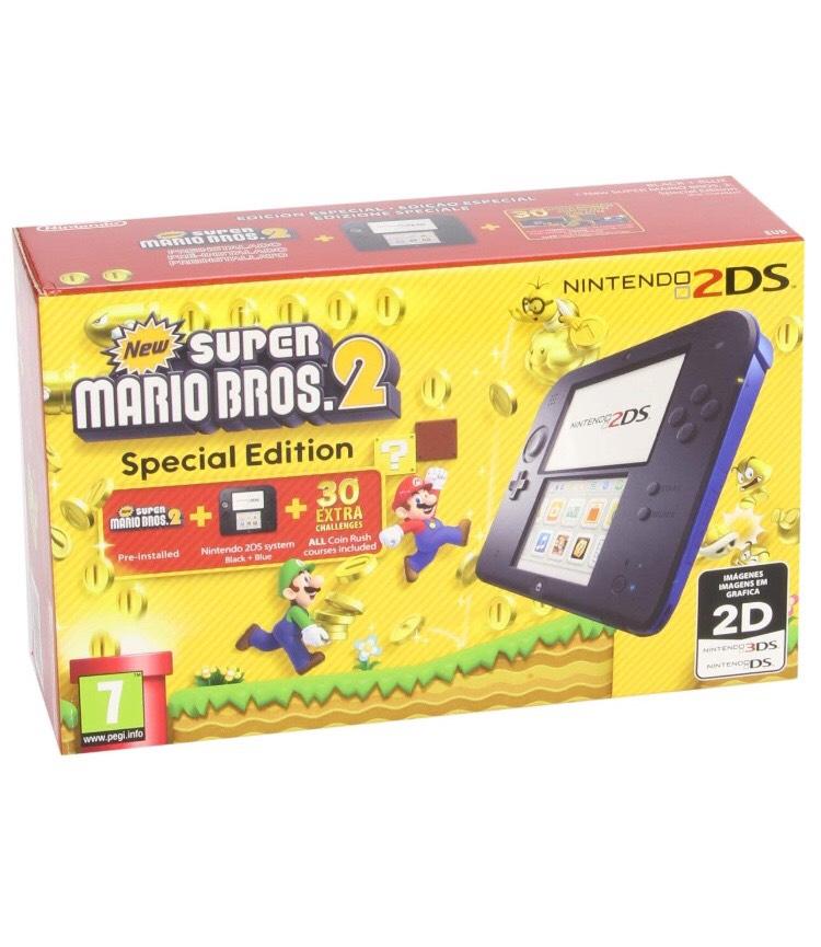 REACO Nintendo 2DS - Consola, Color Azul + New Super Mario Bros 2 (Preinstalado)