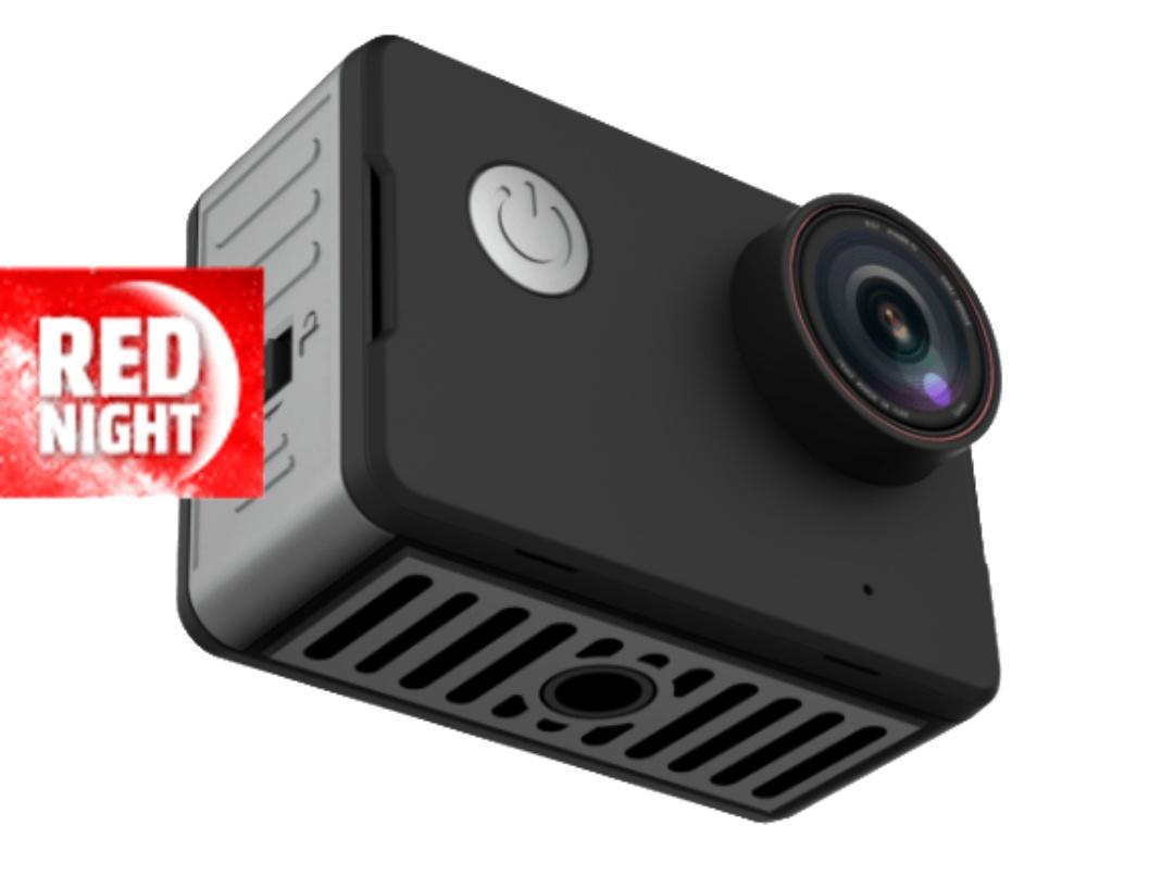 Cámara deportiva - NK-CA3143-TA, Vídeo 4K Ultra HD, 20 Mpx, Wifi, Pantalla HD 2 Pulgadas, Negro