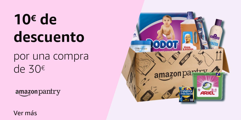 Amazon Pantry 10€ de descuento por 30€