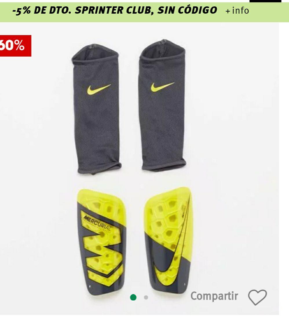 Espinillera Fútbol Nike  Talla L