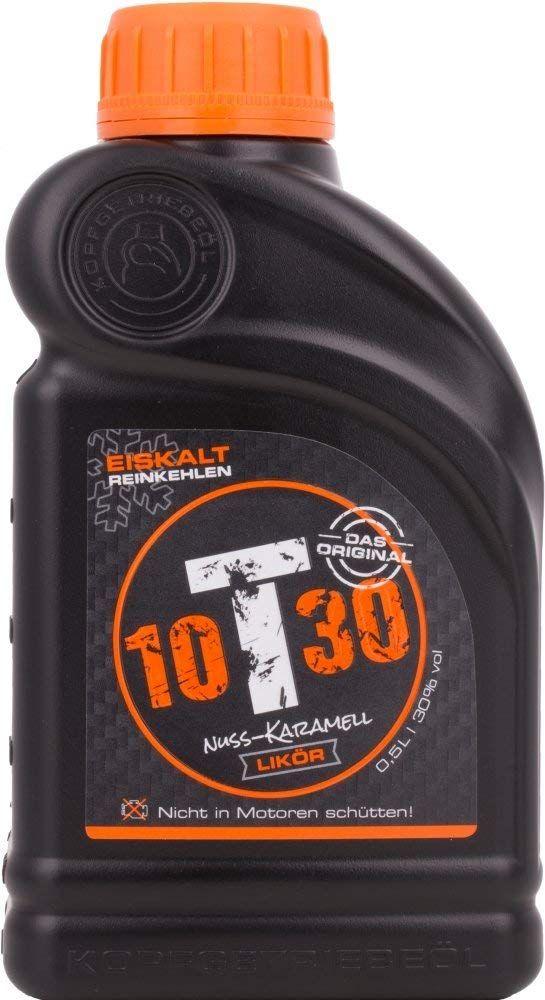 (Producto Plus) Licor de nuez y caramelo 10T30 - 500 ml.