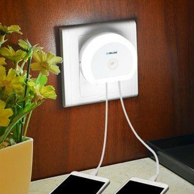Brelong Creative Dual USB Cargador / Luz de noche
