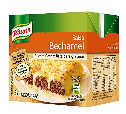Knorr Salsa para Cocinar Líquida de Bechamel Refrigerada - Pack 12 x 500ml: Total 6000ml