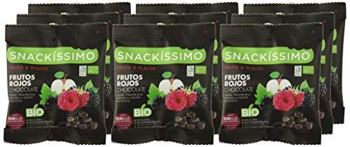 Snackíssimo Snack de Frutos rojos chocolate Bio - Pack de 5 bolsas 125 gr