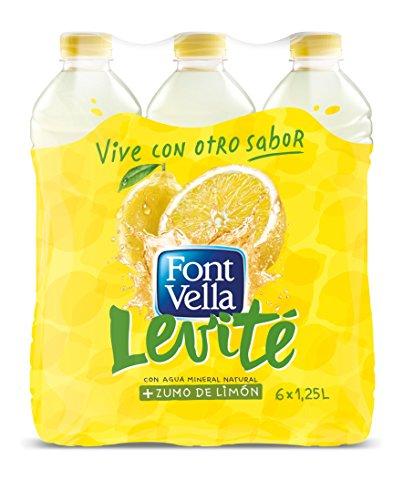 6 x Font Vella Levité Agua Mineral con Zumo de Limón - Total 7200 ml