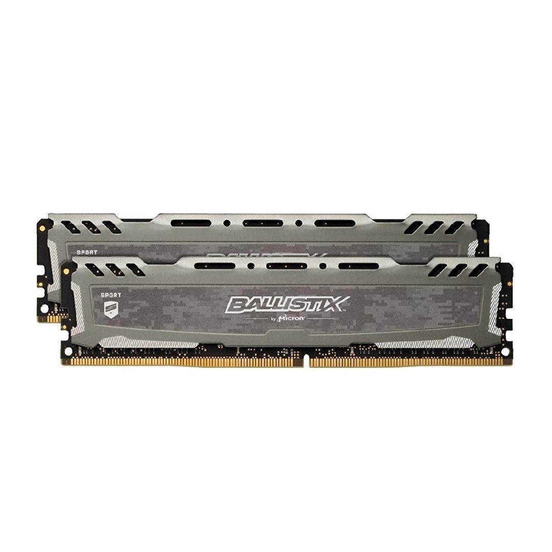 Ballistix Sport LT 32GB (8GB x 4) (DDR4, 2666 MT/s, PC4-21300, DRx8, DIMM, 288-Pin) grau