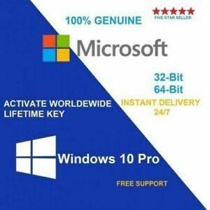 WINDOWS 10 PROFESSIONAL PRO KEY 32 / 64 BIT