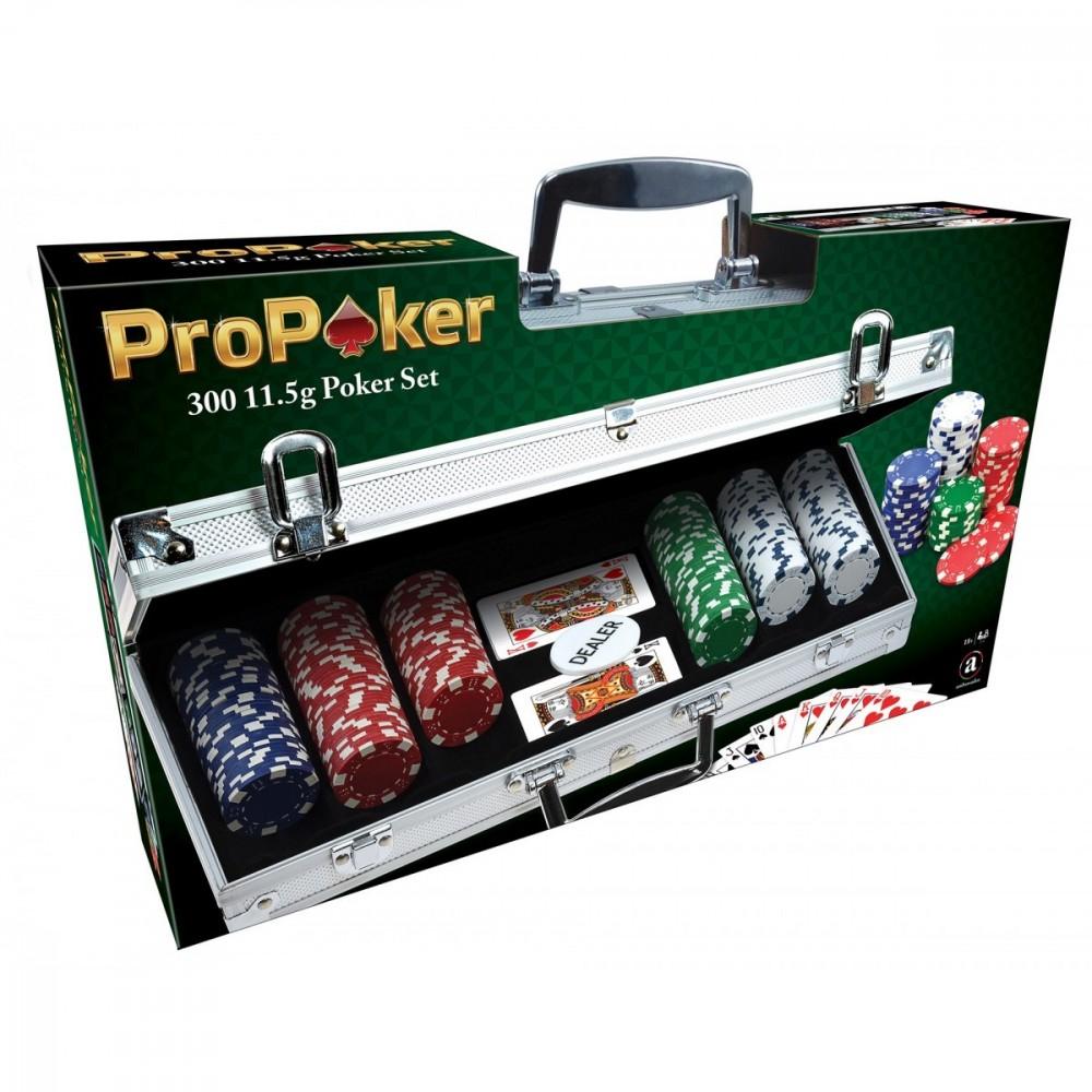 Maletín de poker con 300 fichas
