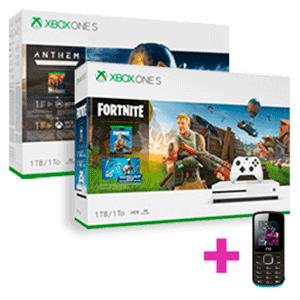Xbox One S+juego+móvil dual SIM