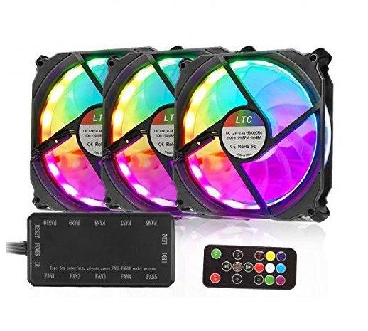 3 Ventiladores RGB Control Remoto solo 9.9€