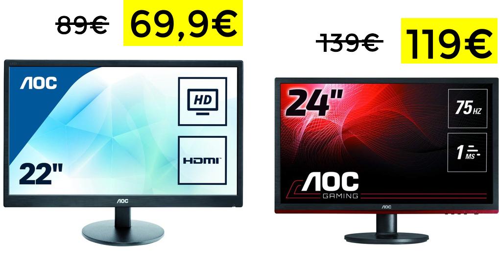 Monitores AOC en ofertas del día