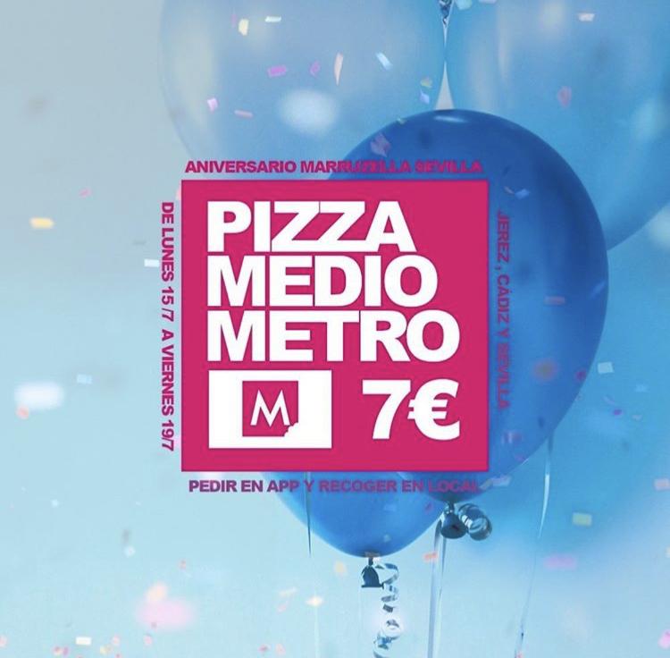 Pizza medio metro 7 € (Cádiz, Jerez y Sevilla)