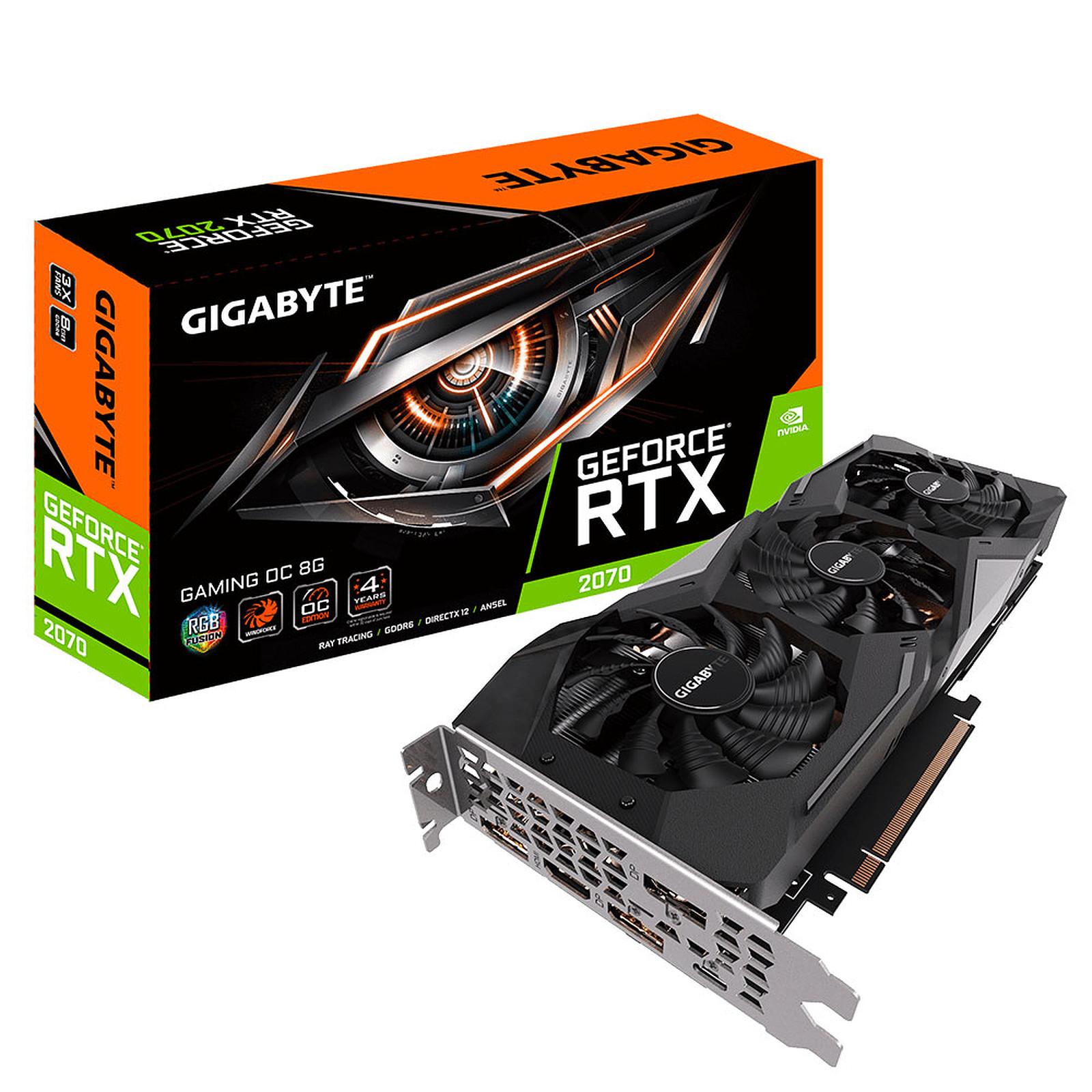 Tarjeta gráfica Gigabyte GeForce RTX 2070 WindForce 8G GDDR6