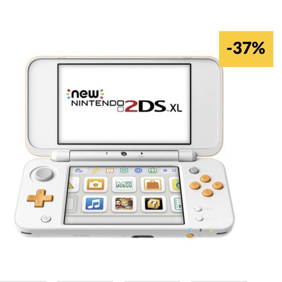 New Nintendo 2DS XL (color blanca y naranja)