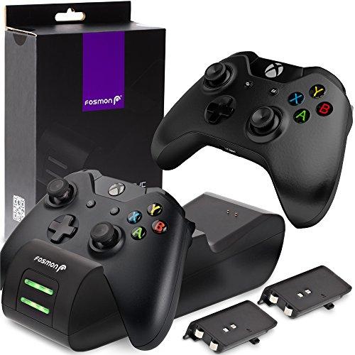 Cargador doble Mando Xbox One Fosmon, 1000mAh