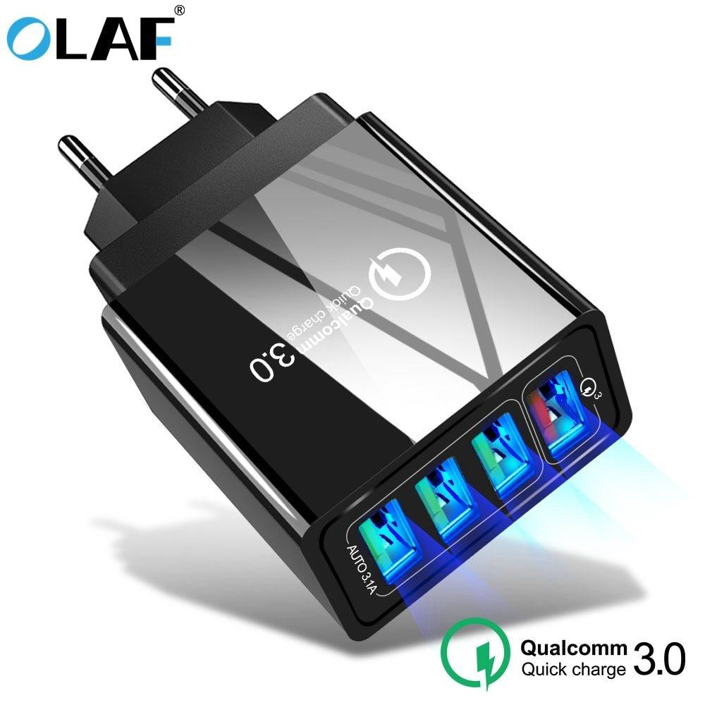 Cargador USB 4 puertos - QC3.0 solo 2.6€
