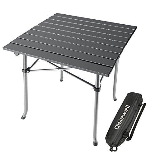 Mesa de camping/playa de aluminio resistente