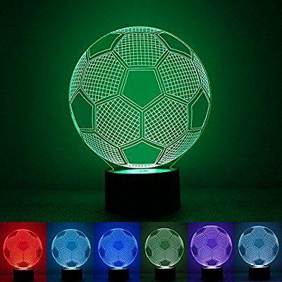 Balón de fútbol LED que cambia de color automáticamente